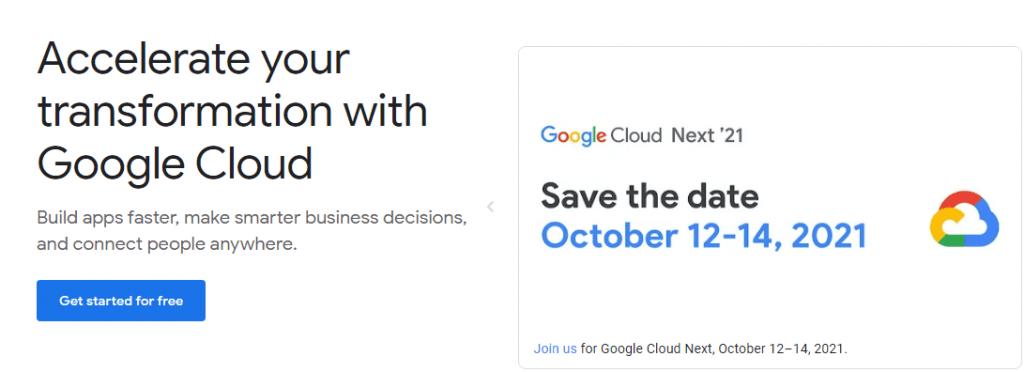 Google cloud web hosting services